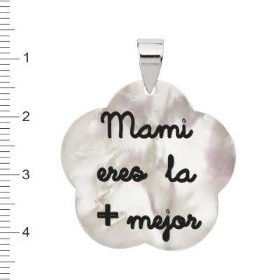 colgante plata flor dia madre 2