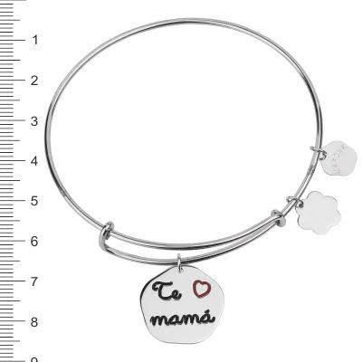 pulsera personalizada de plata dia de la madre