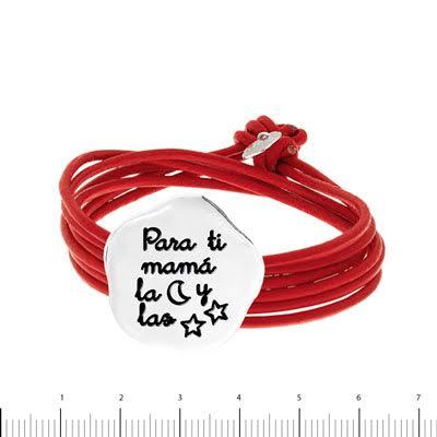 pulsera personalizada cuerdas cuero dia madre
