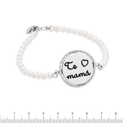 Pulsera personalizada de perlas Dia de la Madre