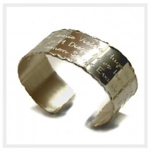 brazalete de plata personalizado para profesores 2
