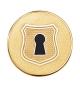 Moneda Plaisir dorada