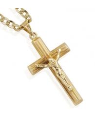 Cadena con cruz en Oro