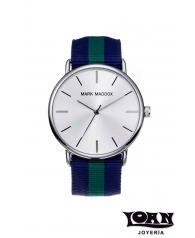 Reloj Hombre Mark Maddox Correa Loneta Azul y Verde