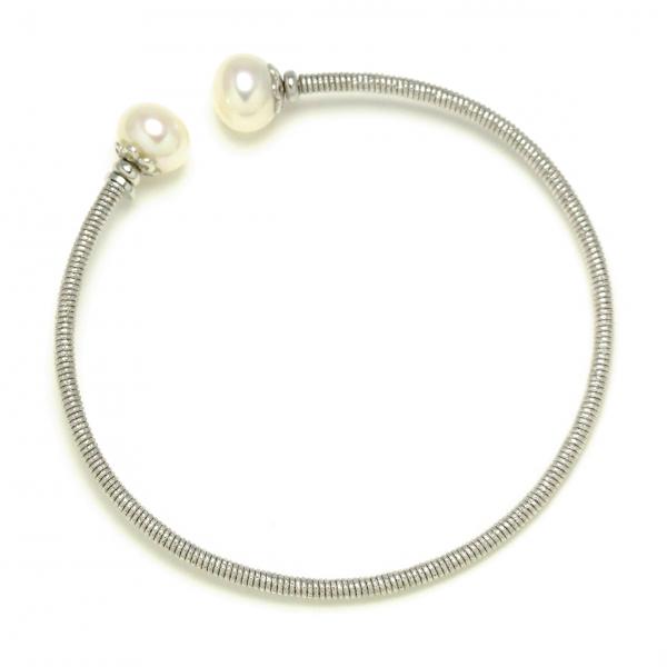 3761808e1e4e ... Pulseras RÃgidas en Plata bañada colores con perlas cultivadas ...