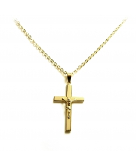 Cruz en oro con cristo a realce Primera Comunión