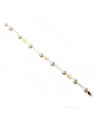 Pulsera en Oro con perlas Niña Primera Comunión