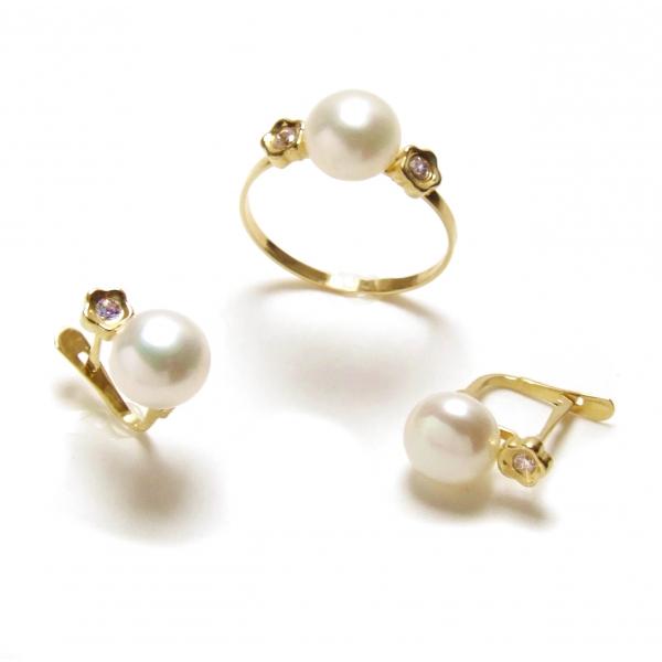 Pendientes de perlas para comunion