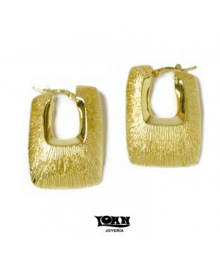 Pendientes de Aro en Oro Cuadrados