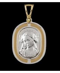Medalla Comunion Niña Oro Bicolor