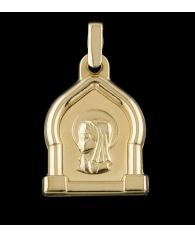 Medalla Comunion Oro Virgen Niña